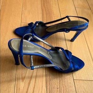 Nine West Blue Slingback Sandals